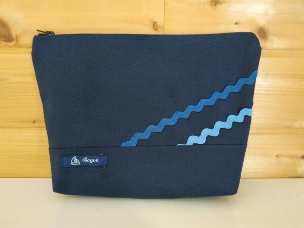 Trousse de toilette-marine-vagues bleues
