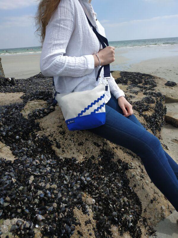 besace-bleu mer-gris-vagues bleues mer